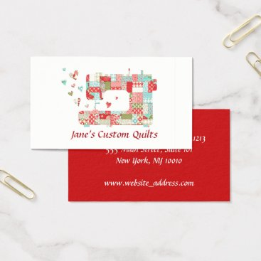 Professional Business Quilter Sewing Machine Business Cards