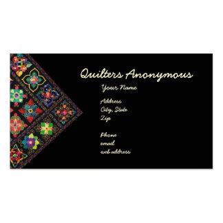 Quilters anónimo tarjetas de visita