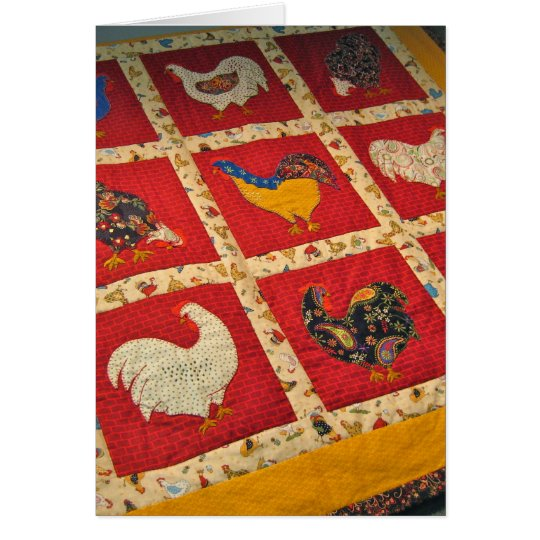 Quilters are Crazy Birds Card