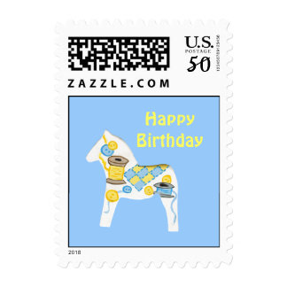 Quilter's Birthday  Postage Stamp