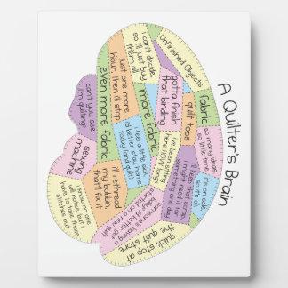 Quilter's Brain Plaque