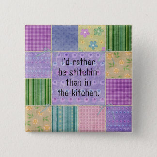Quilter's Country Patchwork Button