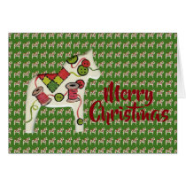 Quilter's Dala Horse Christmas Card