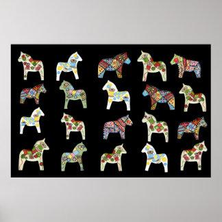 Quilter's Dala Horses Poster