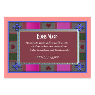 quilter's delight business card templates