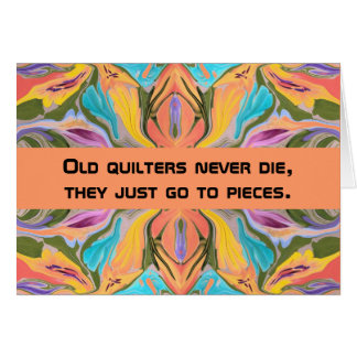 quilters humor card