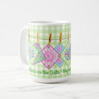Quilter's Mug - Quote - Closesline-Quilt Squares
