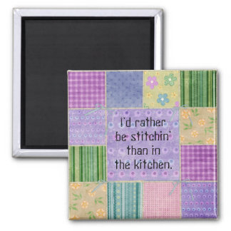 Quilter's Patchwork Fridge Magnet