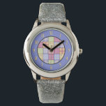 """Quilters Quilt Watch<br><div class=""""desc"""">Quilters Quilt Watch Watch features a beautiful country quilt inside a round frame of purple.</div>"""