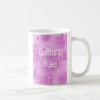 Quilters Rule! Classic White Coffee Mug