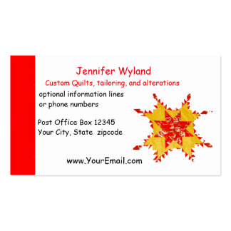 Quilting, Alterations, Crafts, Sewing Business Cards