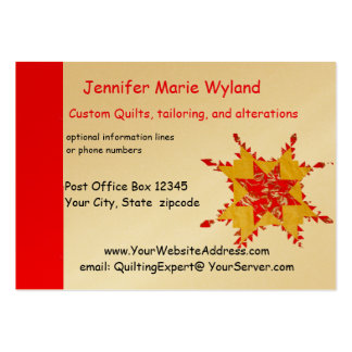 Quilting and Seamstress Antique American Quilt Large Business Cards (Pack Of 100)