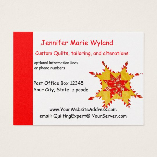 Quilting and Seamstress Antique American Quilt Business Card