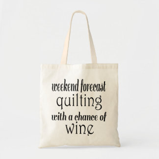 Quilting and Wine Tote Bag