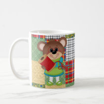 Quilting Bear Quilt Mama Cute Coffee Mug