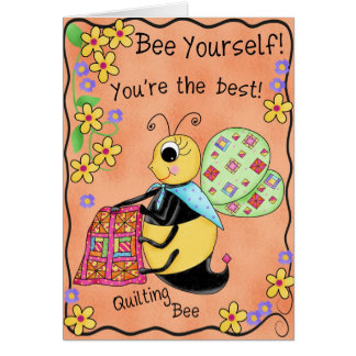Quilting Bee Whimsy Honey Bee Happy Birthday Card