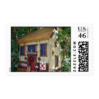 Quilting Birdhouse Postage Stamps