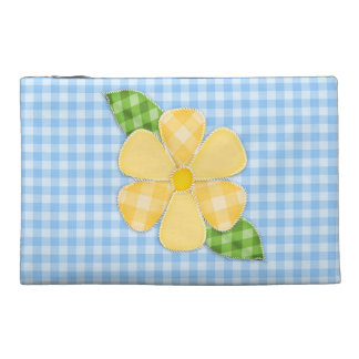 Quilting Blue Gingham Travel Accessory Bag