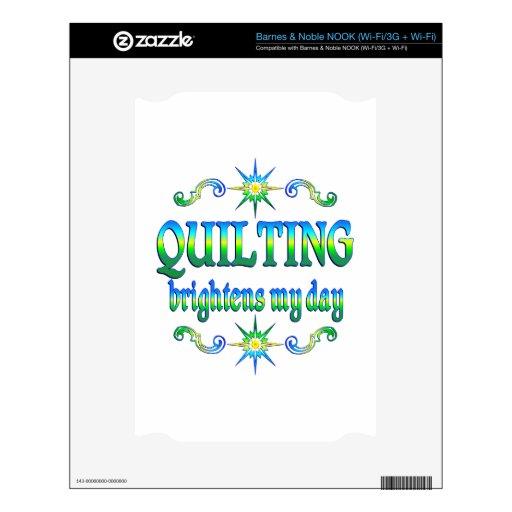 Quilting Brightens NOOK Skin