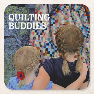 Quilting Buddies Painting Square Paper Coaster