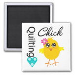 Quilting Chick 2 Inch Square Magnet