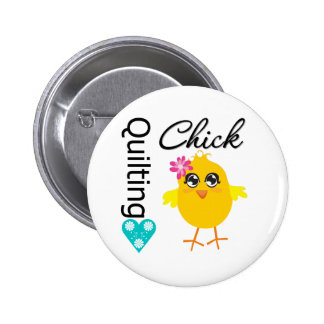 Quilting Chick Pinback Button