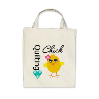 Quilting Chick Canvas Bags