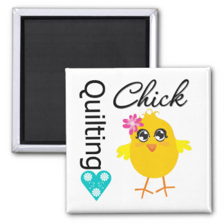 Quilting Chick Refrigerator Magnets