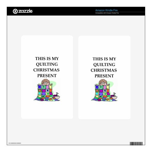 quilting christmas present skins for kindle fire