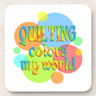 Quilting Colors My World Beverage Coaster