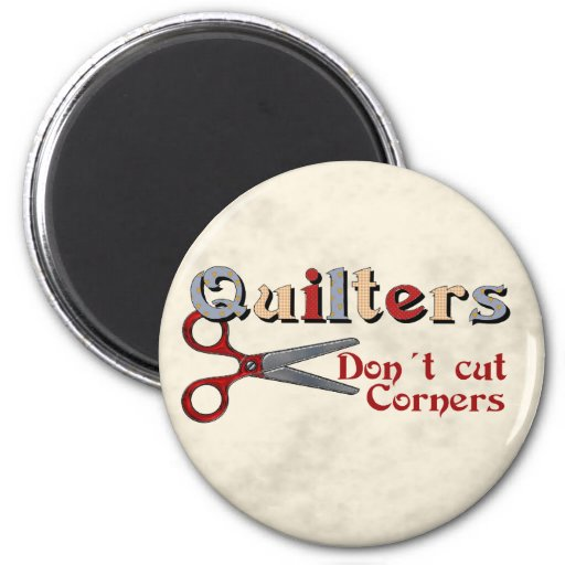 Quilting Corners 2 Inch Round Magnet