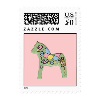 Quilting Dala Horse Postage Stamp