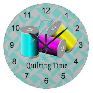 Quilting Design Wall Clock