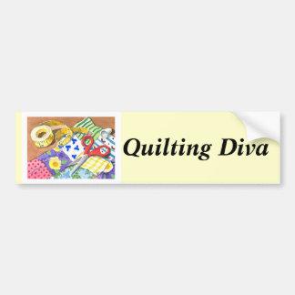 Quilting Diva Bumper Sticker