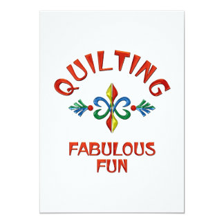 Quilting Fabulous Fun 5x7 Paper Invitation Card