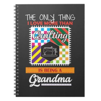 Quilting grandma Gift Quilter Sewing Notebook