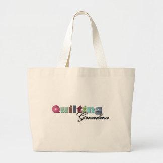 Quilting Grandma Large Tote Bag