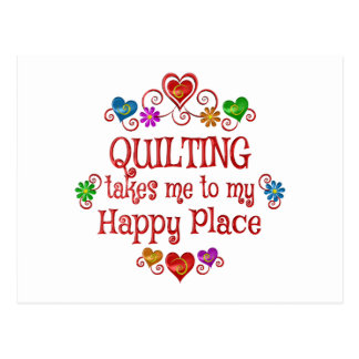 Quilting Happy Place Postcard