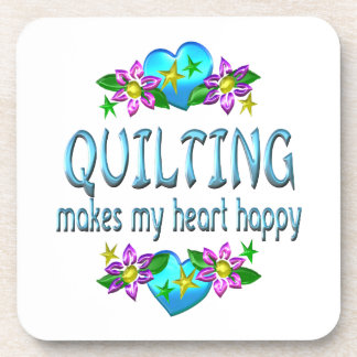 Quilting Heart Happy Drink Coaster