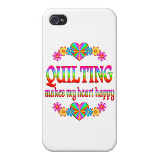 Quilting Heart Happy iPhone 4 Cover