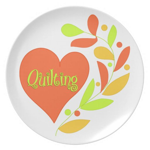 Quilting Heart Party Plate