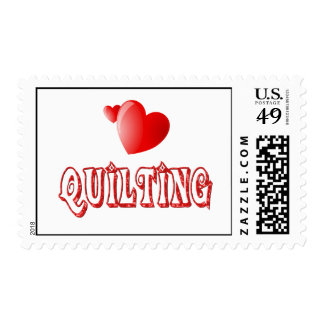 Quilting Hearts Postage Stamp