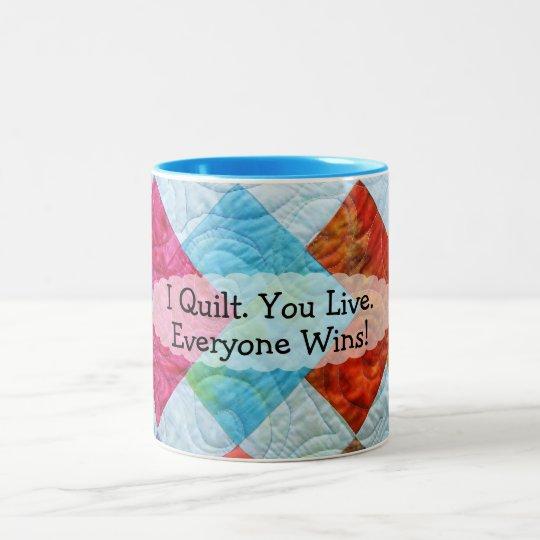 Quilting Humor Two-Tone Coffee Mug