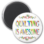 Quilting is Awesome Refrigerator Magnet