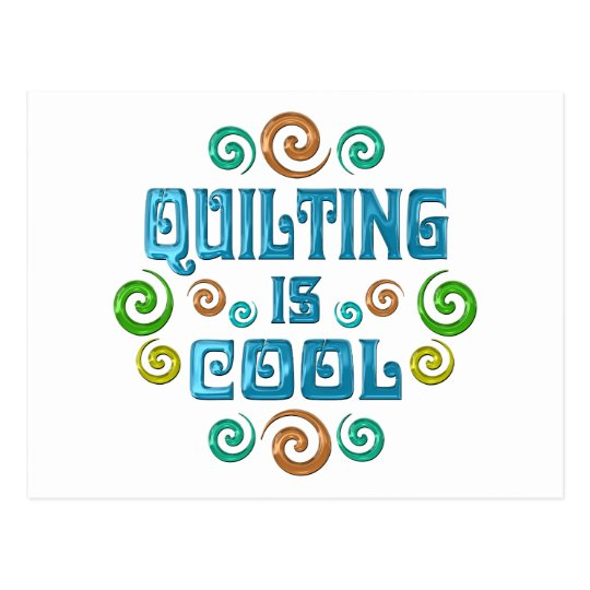 Quilting is Cool Postcard