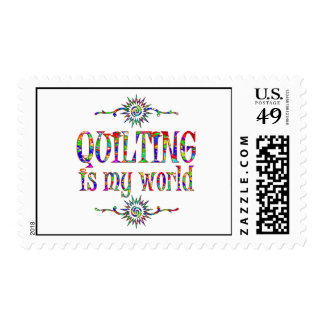 Quilting is My World Postage Stamp