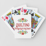 Quilting Joy Bicycle Playing Cards