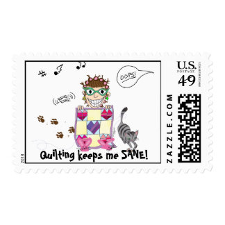 Quilting keeps me SANE! Postage