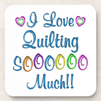 Quilting Love So Much Beverage Coasters