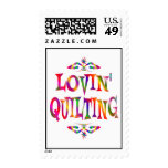 Quilting Lover Postage Stamp